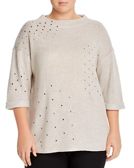 NIC and ZOE Plus - Embellished Sweater