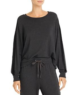 Splendid - Super Soft Velvet-Trim Sweatshirt
