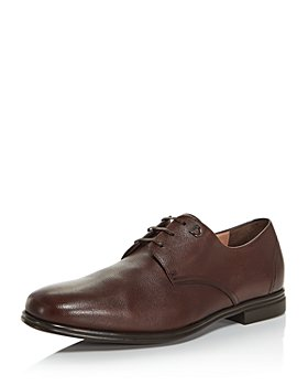 Salvatore Ferragamo - Men's Spencer Plain-Toe Leather Oxfords - Regular
