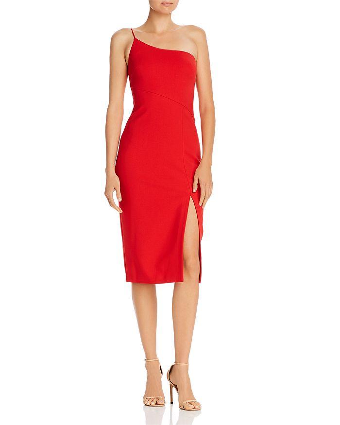 LIKELY - Cassidy One-Shoulder Midi Sheath Dress
