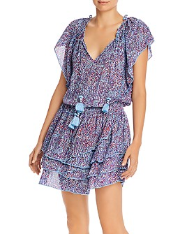 Poupette St. Barth - Elsa Tiered Printed Mini Dress