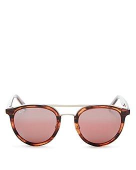Maui Jim - Women's Sunny Days Polarized Brow Bar Round Sunglasses, 49mm