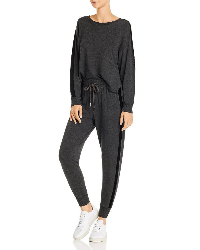 Splendid - Super Soft Velvet-Trim Sweatshirt & Jogger Pants