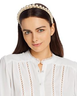 Lele Sadoughi - Embellished Velvet Headband
