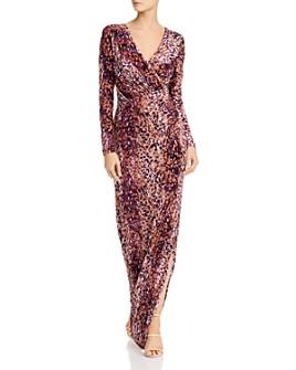 Rachel Zoe - Dianora Printed Velvet Gown