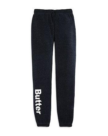 Butter - Girls' Logo Fleece Pants - Little Kid, Big Kid