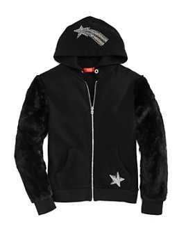 Butter - Girls' Rhinestone Star Hoodie - Little Kid, Big Kid