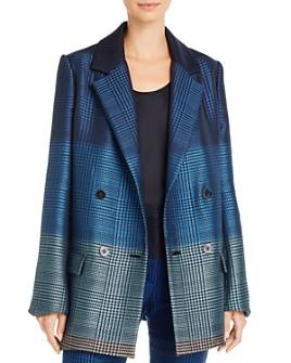 Mary Katrantzou - Megan Color-Blocked Virgin Wool-Blend Blazer