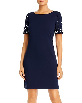 KARL LAGERFELD Paris - Embellished-Sleeve Sheath Dress
