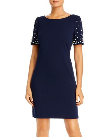KARL LAGERFELD PARIS - Embellished-Sleeve Sheath Dress