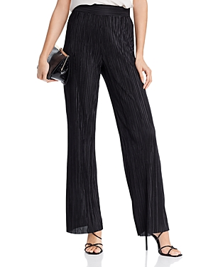 Aqua Plisse Wide-Leg Pants - 100% Exclusive-Women