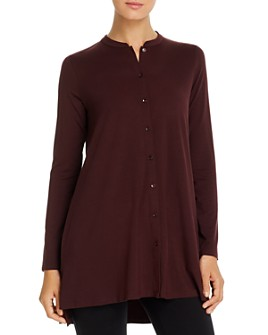 Eileen Fisher - Button-Front Tunic Top