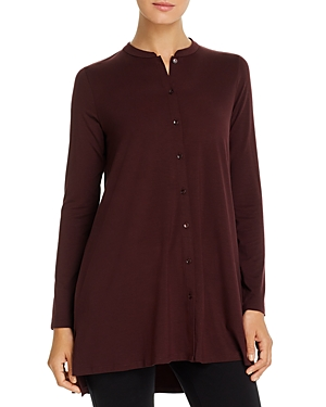 Eileen Fisher Button-Front Tunic Top
