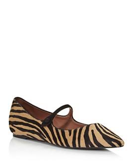 Tabitha Simmons - Women's Hermione Zebra-Print Ballet Flats