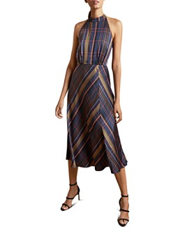 Ted Baker - Toronti Check-Print Halter Dress