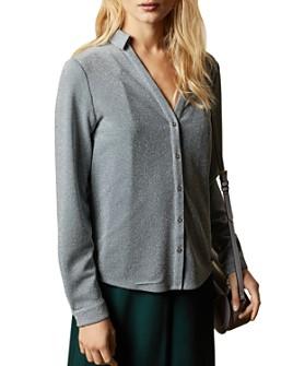 Ted Baker - Castelo Metallic Knit Button-Down Shirt