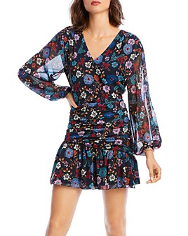 LINI - Maggie Ruched Floral Mini Dress - 100% Exclusive