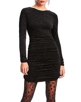 LINI - Devon Plissé Velvet Dress - 100% Exclusive