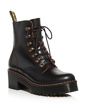 Dr. Martens Women\\\'s Leona Platform Combat Boots