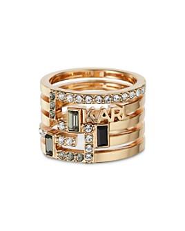 KARL LAGERFELD PARIS - Boucle Faux Stack Ring