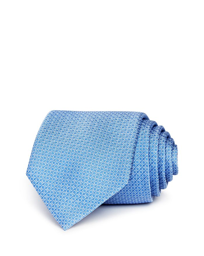 Salvatore Ferragamo - Mini Gancini Silk Skinny Tie