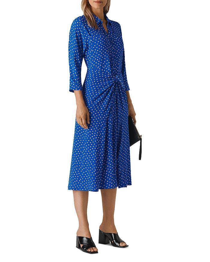 Whistles - Selma Dot Tie-Waist Dress