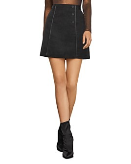 BCBGMAXAZRIA - Double-Breasted Moire Skirt