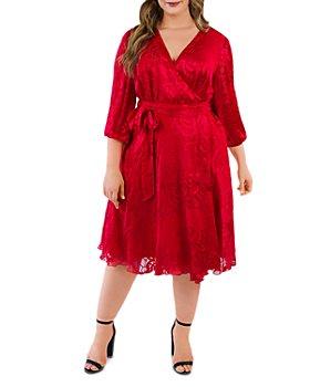 Maree Pour Toi Plus - Silk Burnout Wrap Dress