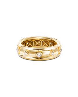 David Yurman - 18K Yellow Gold Modern Renaissance Ring with Diamonds
