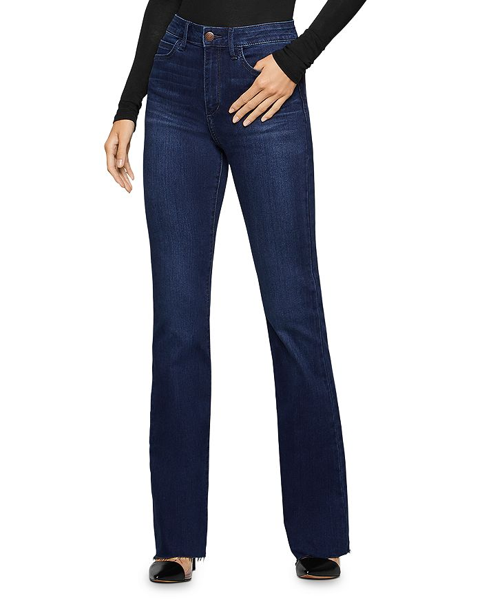 BCBGENERATION - Raw-Edge Flared Jeans in Abbie