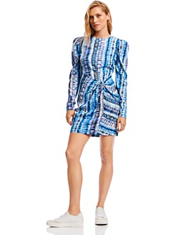 LINI - Penelope Puff-Sleeve Tie-Dye Dress - 100% Exclusive