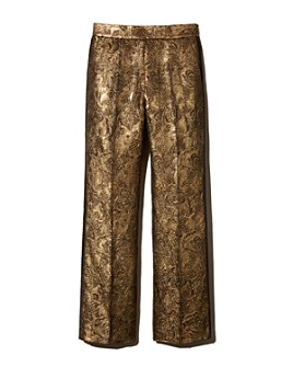 Sandro - Goldy Brocade Cropped Pants