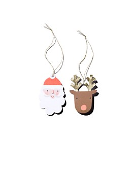 Meri Meri - Santa & Reindeer Gift Tags, Pack of 8