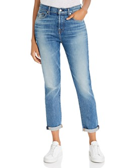 7 For All Mankind - Josefina High-Waist Boyfriend Jeans in Telluride
