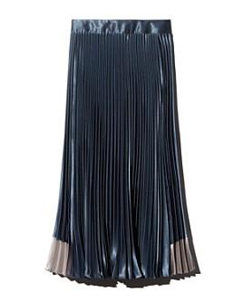 Ted Baker - Glaycie Contrast Panel Pleated Midi Skirt