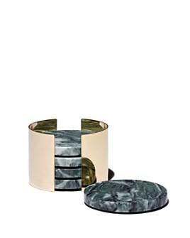 Viski - Burke Emerald & Gold Coasters, Set of 4