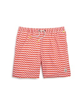 Psycho Bunny - Boys' Geometric Waves Swim Trunks - Little Kid, Big Kid