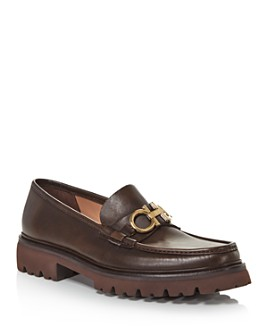 Salvatore Ferragamo - Men's Bleecker Leather Moc Toe Loafers