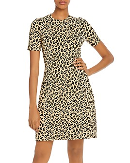 Theory - Glosse Leopard-Printed Dress