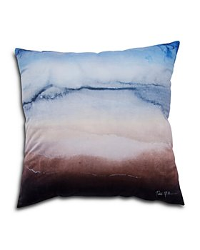 "Ren-Wil - Finch Knife-Edge Watercolor Pillow, 20"" x 20"""