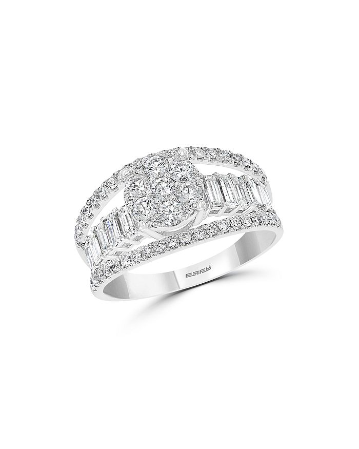 Bloomingdale's - Cluster Diamond Multi-Row Ring in 14K White Gold, 1.25 ct. t.w. - 100% Exclusive