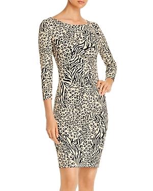 T Tahari Animal-Print Dress