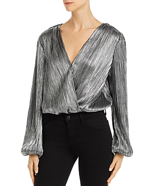Astr Tops ASTR THE LABEL PRIMADONNA METALLIC PLISSE TOP