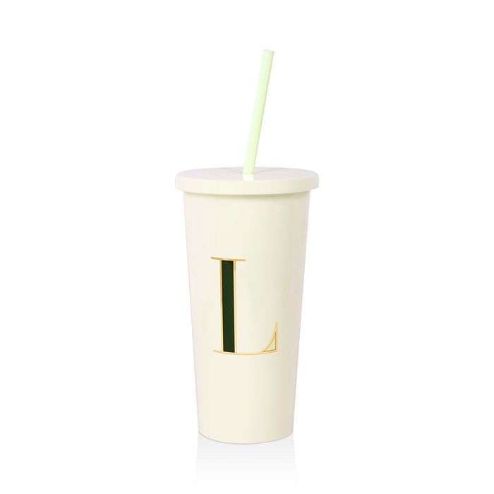 kate spade new york - Initial Tumbler with Straw