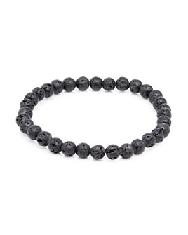 LINK UP - Lava Stone Bead Elastic Bracelet