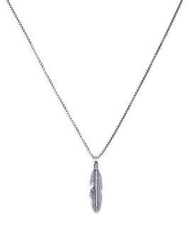 Degs & Sal - Sterling Silver Feather Necklace, 24""