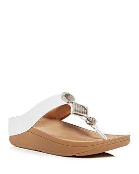 FitFlop - Women's Leia Embellished Platform Thong Sandals