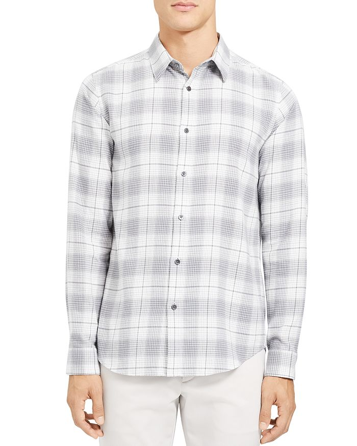 Theory - Irving Flannel Grid Regular Fit Shirt