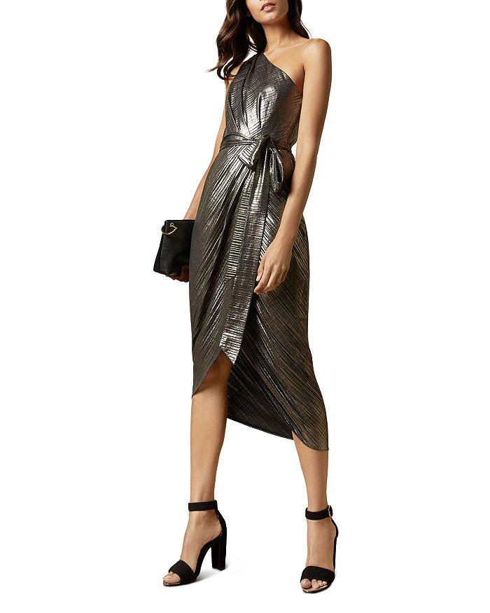 Ted Baker - Gabria Metallic One-Shoulder Dress