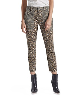 Current/Elliott - The Weslan Mixed-Print Cropped Pants